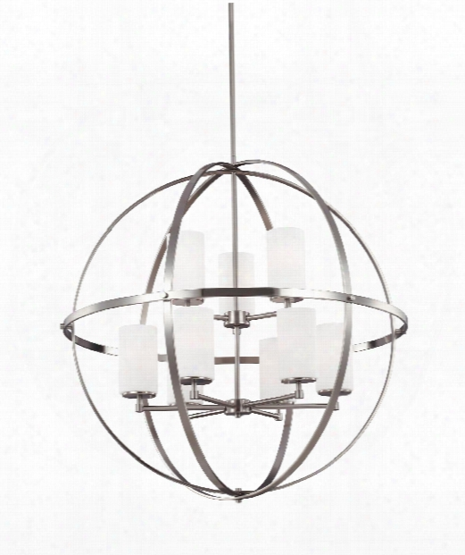 "Alturas 33"" 9 Light Chandelier In Brushed Nickel"