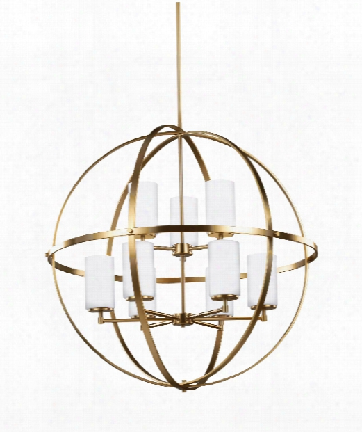 "Alturas 33"" 9 Light Large Pendant In Satin Bronze"