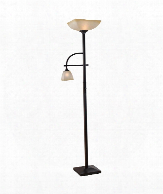 """Arch 18"""" 1 Light Torchiere Lamp In Oil Rubbed Bronze"""