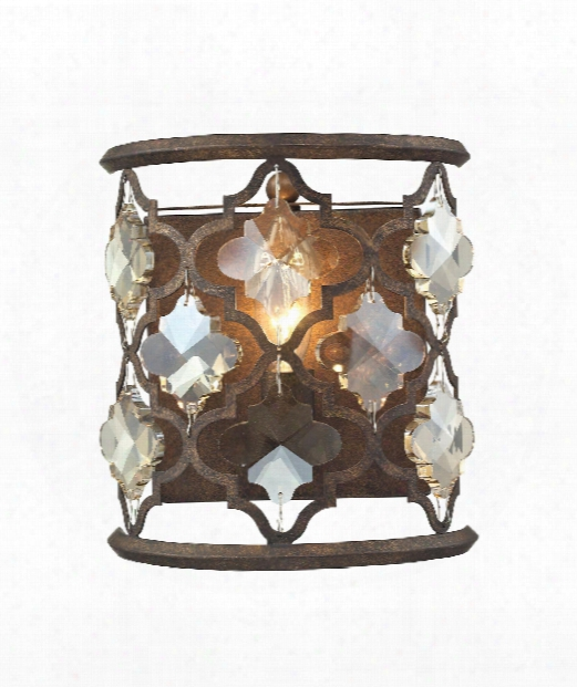 """Armand 8"""" 1 Light Wall Sconce In Weathered Bronze"""