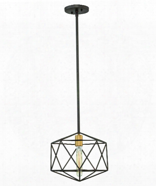 "Astrid 12"" 1 Light Mini Pendant In Metallic Matte Bronze"