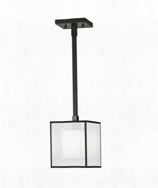 "Black And White Story 7"" 1 Light Mini Pendant In Black Satin Lacquer"