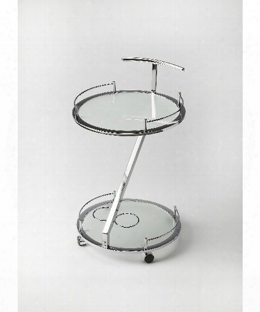 """Butler Loft 19"""" Accent Table In White-frosted"""