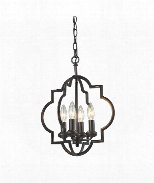"Chandette 14"" 4 Light Large Pendant In Oil Rubbed Bronze"