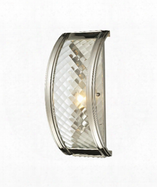 "Chandler 4"" 1 Light Wall Sconce In Polished Nickel"