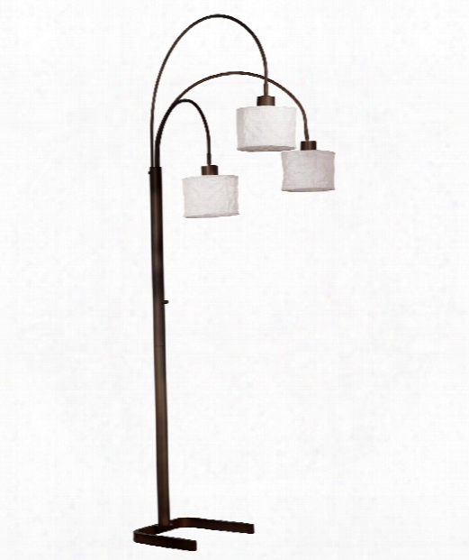 "Crush 9"" 3 Light Arc Lamp In Oil Rubbed Bronze"