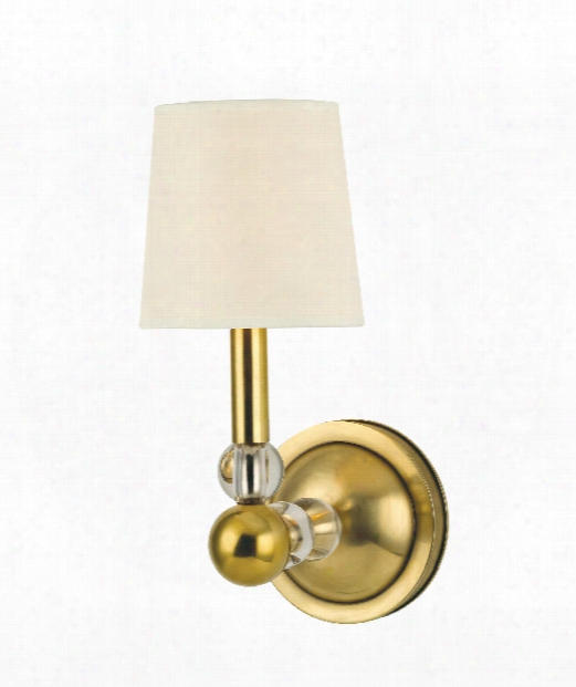 "Danville 5"" 1 Light Wall Sconce In Aged Brass"