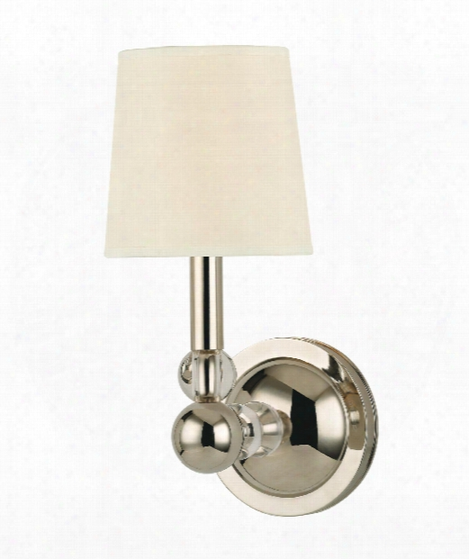 """Danville 5"""" 1 Light Wall Sconce In Polished Nickel"""