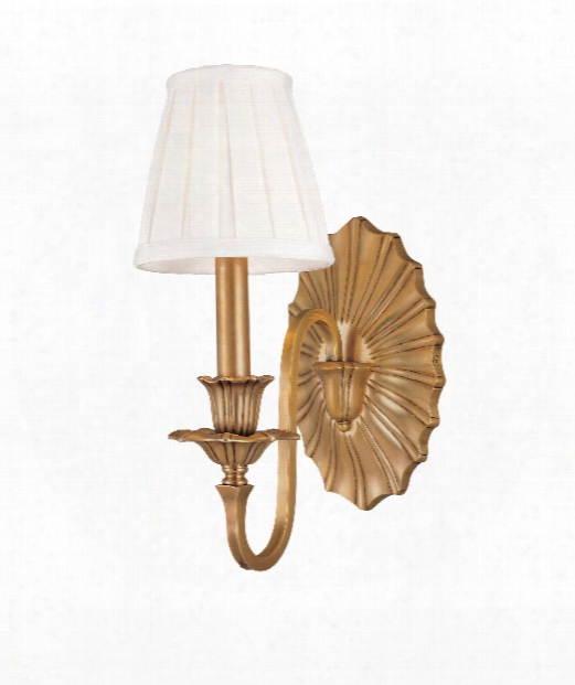 """Empire 5"""" 1 Light Wall Sconce In Aged Brass"""