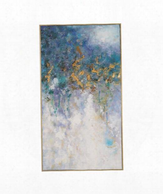 """Floating 29"""" Print In Gold Leaf"""