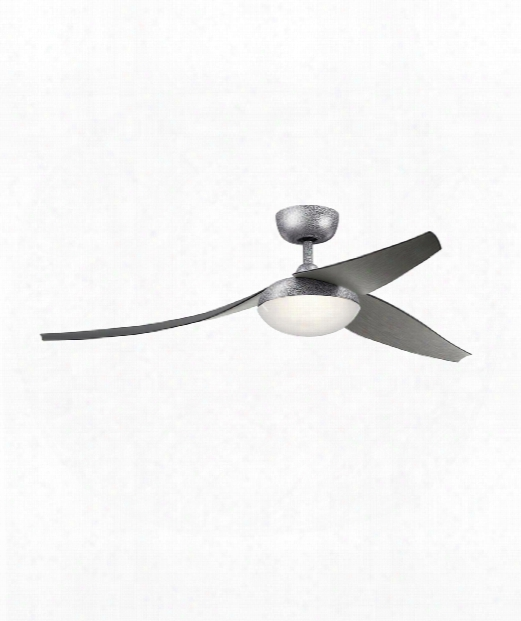 "Flyy 60"" Led 1 Light Ceiling Fan In Weathered Steel Powder Coat"