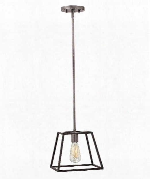 "Fulton 10"" 1 Light Mini Pendant In Aged Zinc"