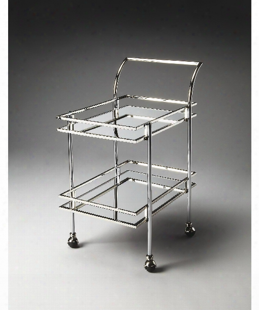 """Gatsby 25"""" Accent Table In Nickel"""