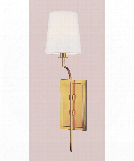 "Glenford 6"" 1 Light Wall Sconce In Age Brass"