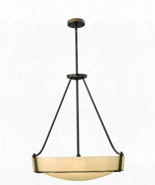 "Hathaway 27"" 5 Light Large Pendant In Olde Bronze"
