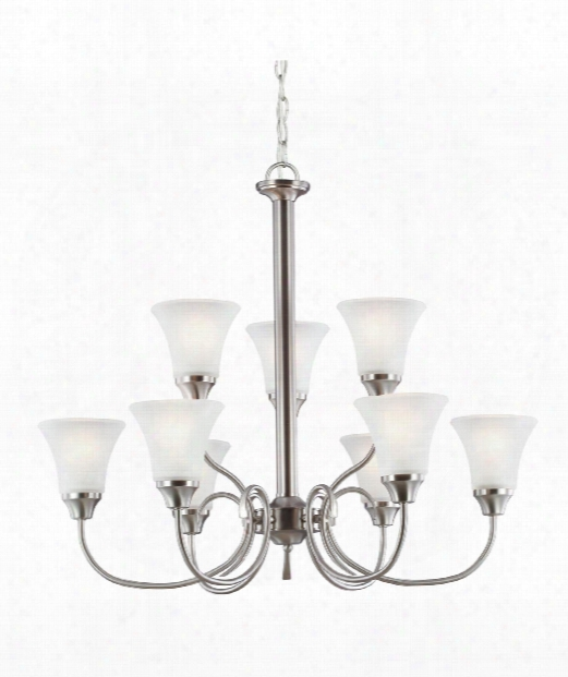 "Holman 30"" 9 Light Chandelier In Brushed Nickel"