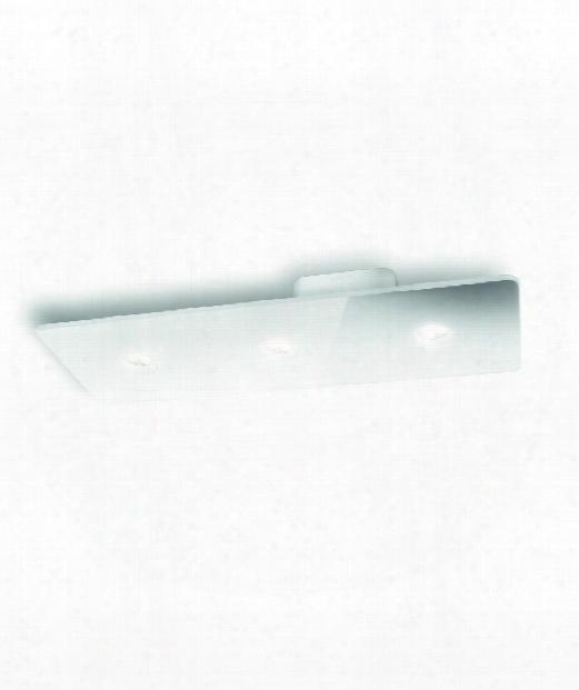 """Ledino 19"""" Led 3 Light Semi Flush Mount In White"""