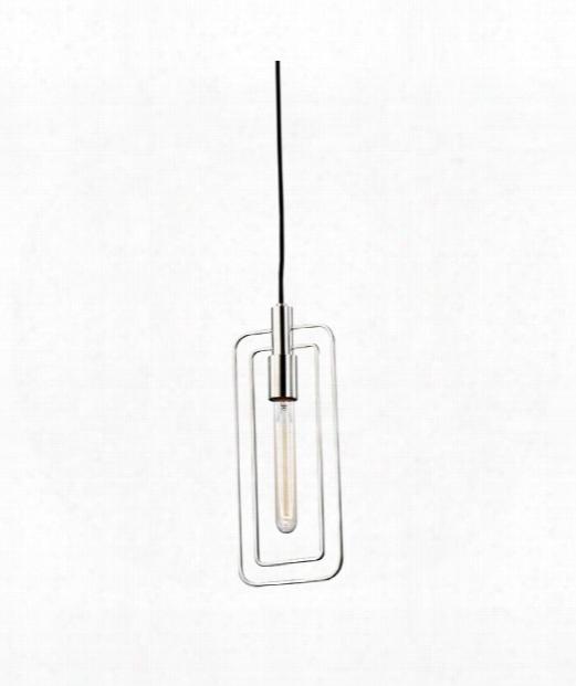 "Masonville 6"" 1 Light Mini Pendant In Polished Nickel"