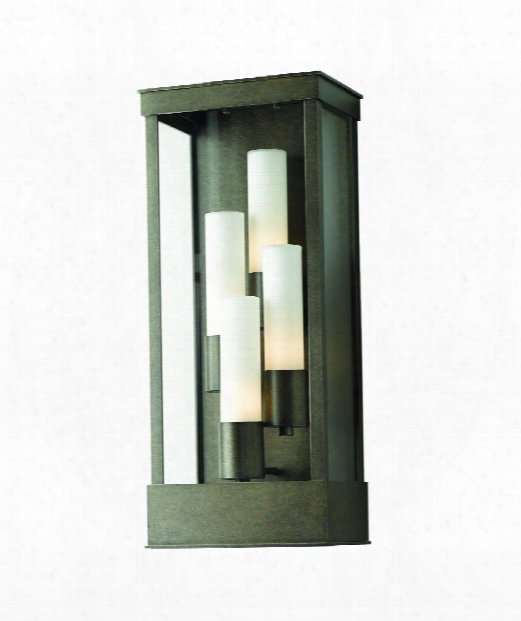 "Portico 10"" 4 Light Outdoor Outdoor Wall Light In Mahogany"