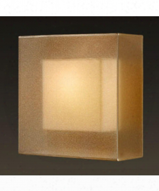 "Quadralli 11"" 1 Light Wall Sconce In Bourbon"