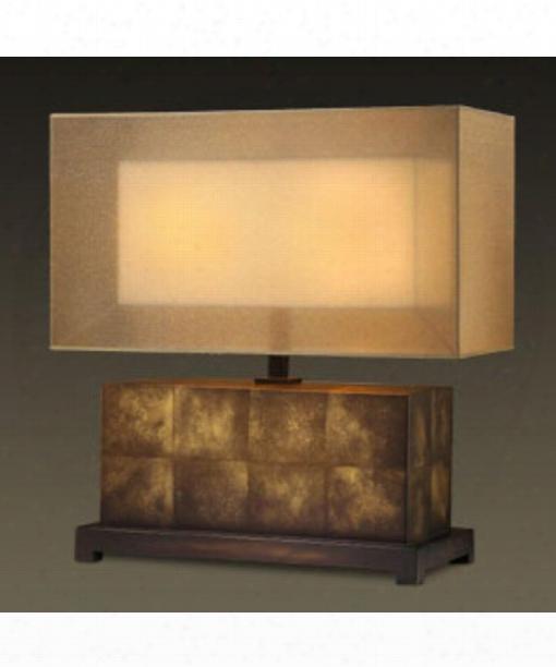Quadralli 2 Light Table Lamp In Bourbon