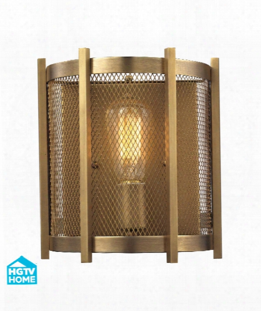 "Rialto 4"" 1 Light Wall Sconce In Aged Brass"