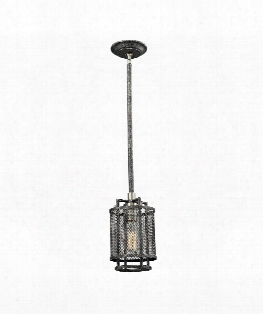 "Slatington 6"" 1 Light Mini Pendant In Silvered Graphite-brushed Nickel"