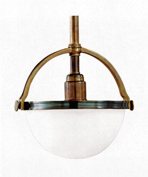 """Stratford 10"""" 1 Light Mini Pendant In Historic Bronze"""