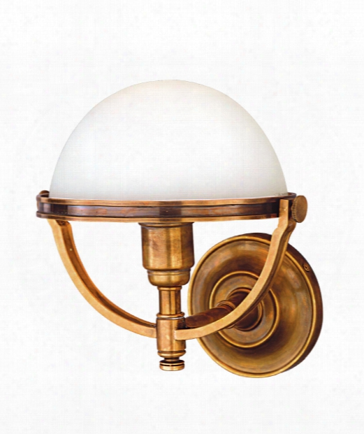 "Stratford 10"" 1 Light Wall Sconce In Aged Brass"