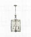 "Aubree 17"" 8 Light Large Pendant in Polished Nickel"