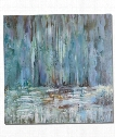 """Blue Waterfall 40"""" Painting in Canvas"""