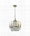 "Chandette 15"" 5 Light Mini Chandelier in Aged Silver"