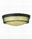 "Hathaway 21"" 4 Light Flush Mount in Olde Bronze"