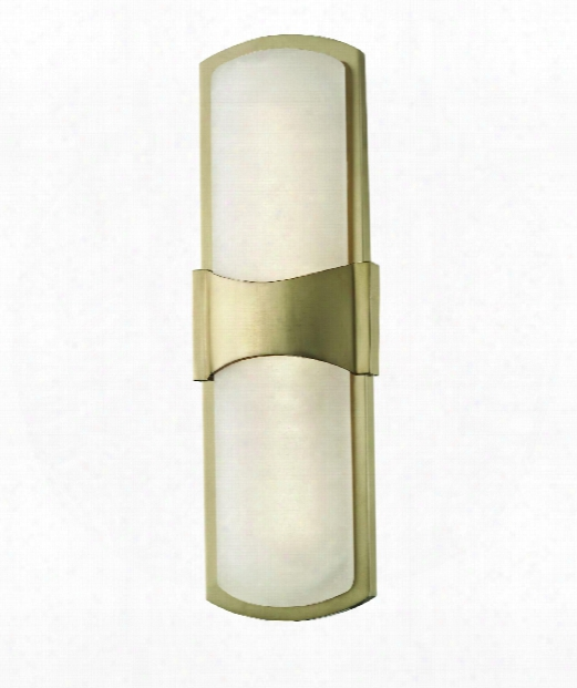 "Valencia 5"" Led 1 Light Wall Sconce In Aged Brass"