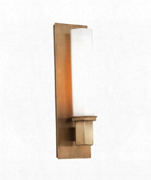 """Walton 5"""" 1 Light Wall Sconce In Aged Brass"""