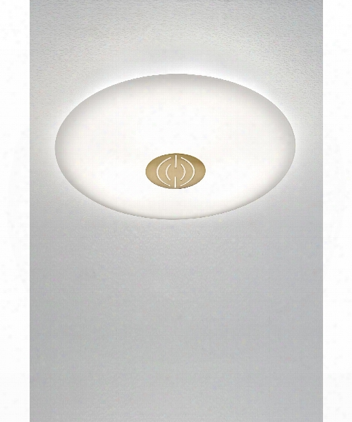 "13"" Led 1 Light Flush Mount In Antique Brass"