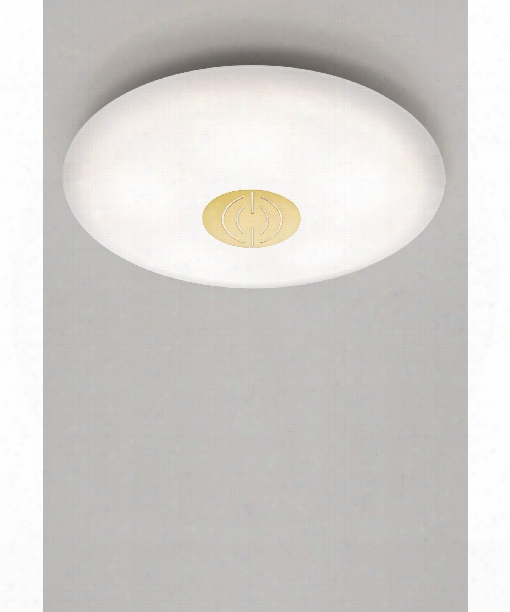 "17"" Led 1 Light Flush Mount In Brushed Brass"