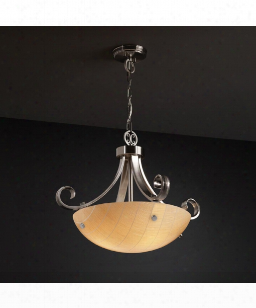 "3form 24"" 3 Light Large Pendant In Brushed Nickel"
