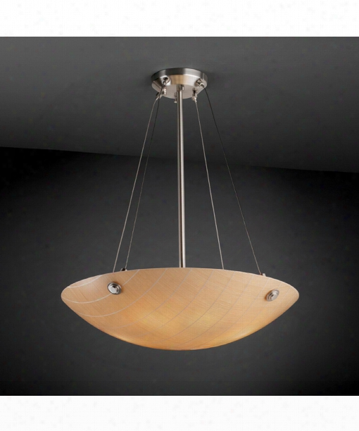 "3form 27"" 6 Light Large Pendant In Brushed Nickel"