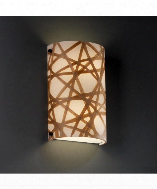 "3form 8"" 2 Light Wall Sconce In Dark Bronze"