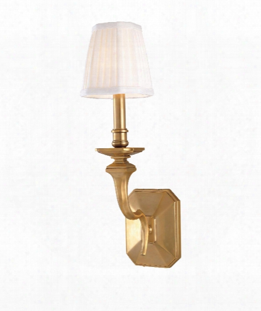 "Arlington 5"" 1 Light Wall Sconce In Aged Brass"