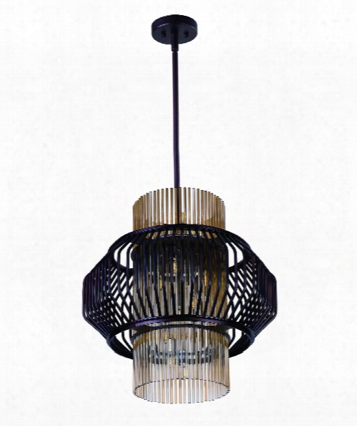 "Aviary 20"" Led 13 Light Large Pendant In Oil Rubbed Bronze"