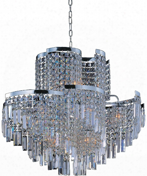 "Belvedere 31"" 19 Light Chandelier In Polished Chrome"