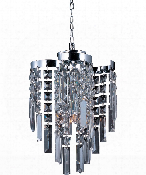 "Belvedere 9"" 4 Light Mini Pendant In Polished Chrome"