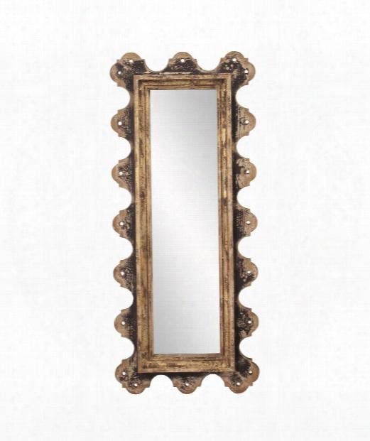 "Blaine 20"" Wall Mirror In Burnt"