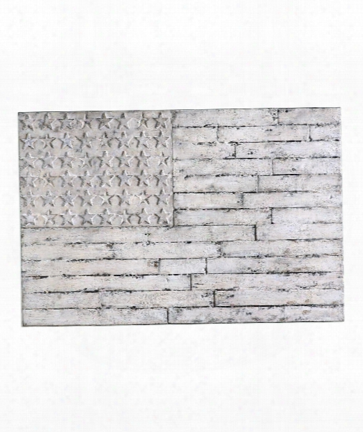 """Blanco 60"""" Print In Distressed White Washed"""