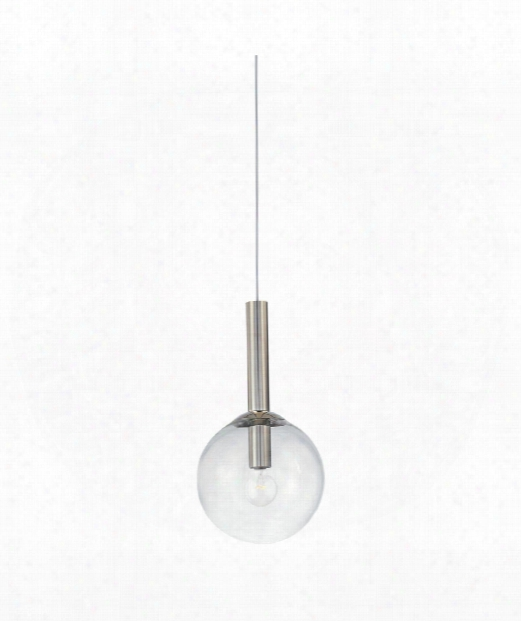 "Bubbles 12"" 1 Light Mini Pendant In Polished Nickel"