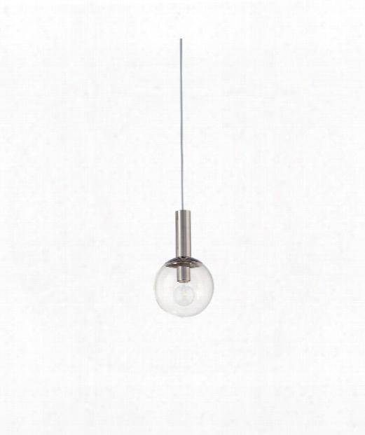 "Bubbles 8"" 1 Light Mini Pendant In Polished Nickel"