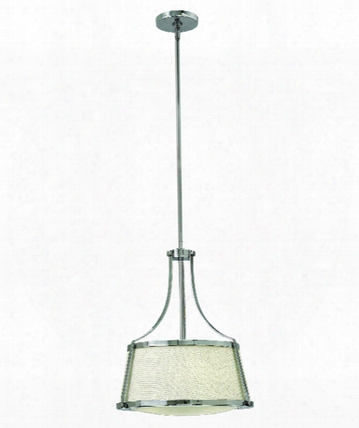 "Charlotte 16"" 3 Light Large Pendant In Chrome"