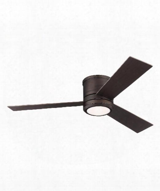 Clarity Max Led 1 Light Flush Mount Fan In Roman Bronze
